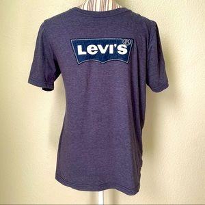 Levi's Logo Appliqué T-Shirt Grey Boys' XL
